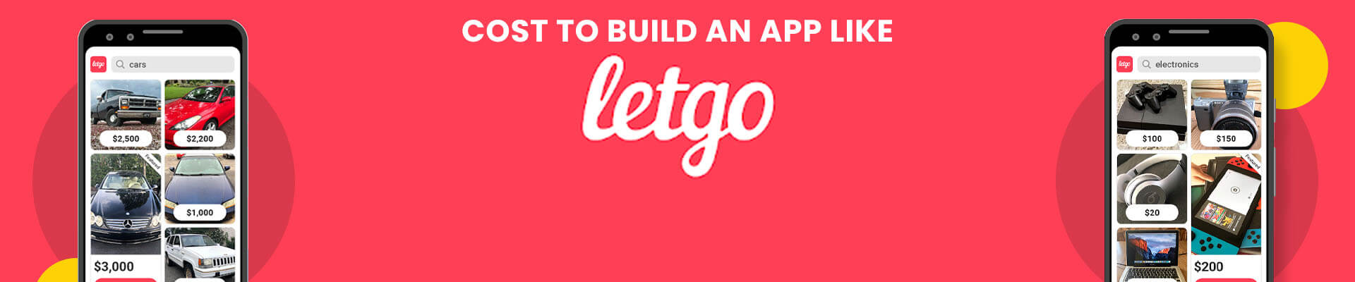 How Much Does it Cost to Build an App like Letgo? [2021]